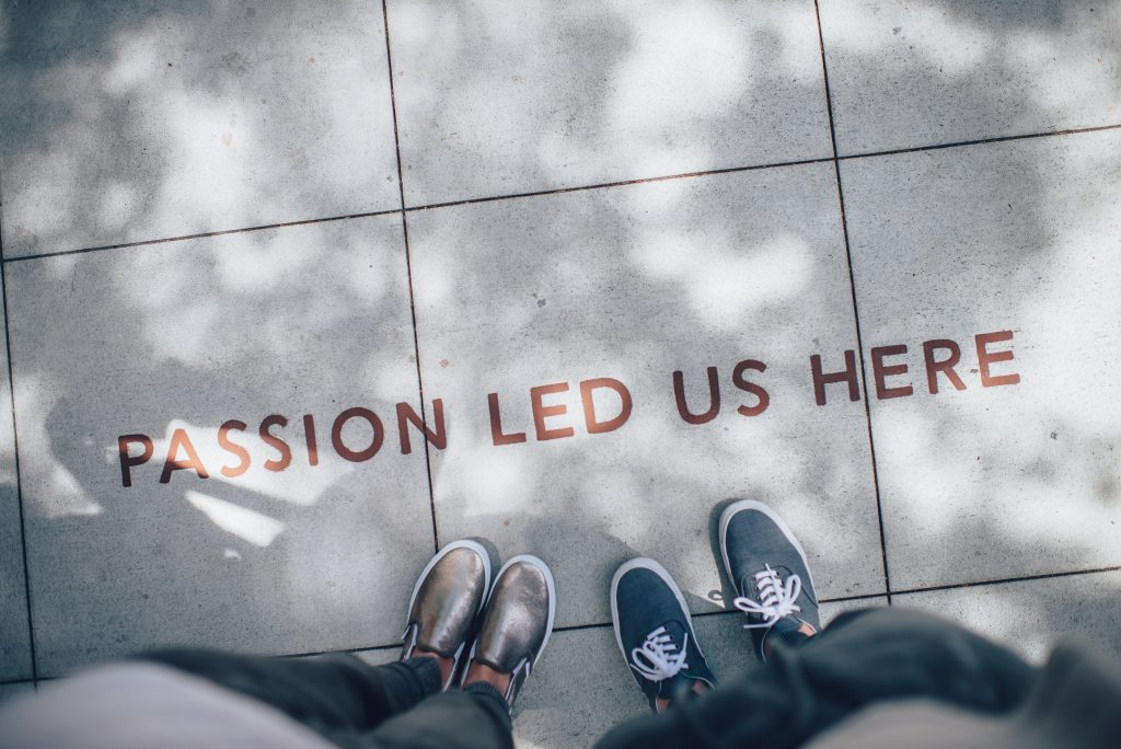 personal branding for teachers - passion led us here on sidewalk